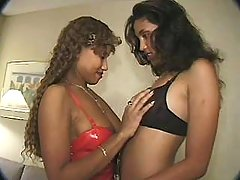 Ebony black lesbian spoils new girlfriend