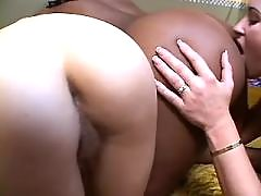 Lustful mature dildoing cute girl